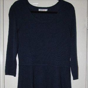 JustFab Navy Blue Sweater Dress